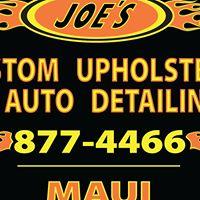 Joe's Custom Upholstery & Auto Detailing logo