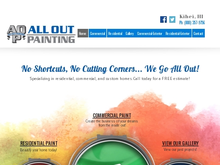All Out Painting LLC logo