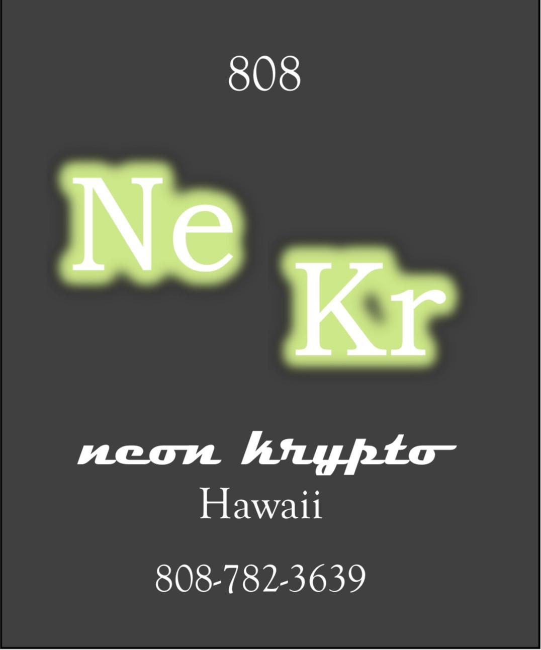 NeonKrypto Hawai'i Signs logo