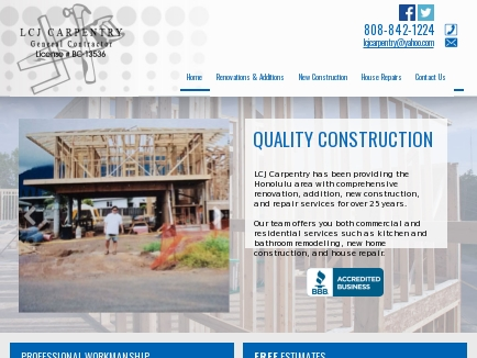 Lcj Carpentry logo