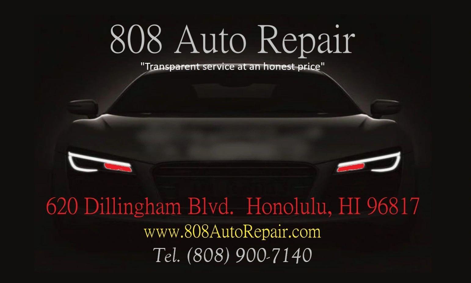 808 Auto Repair logo