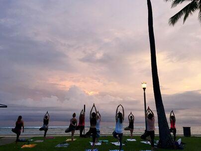 Beach Sunset Yoga Hawaii logo