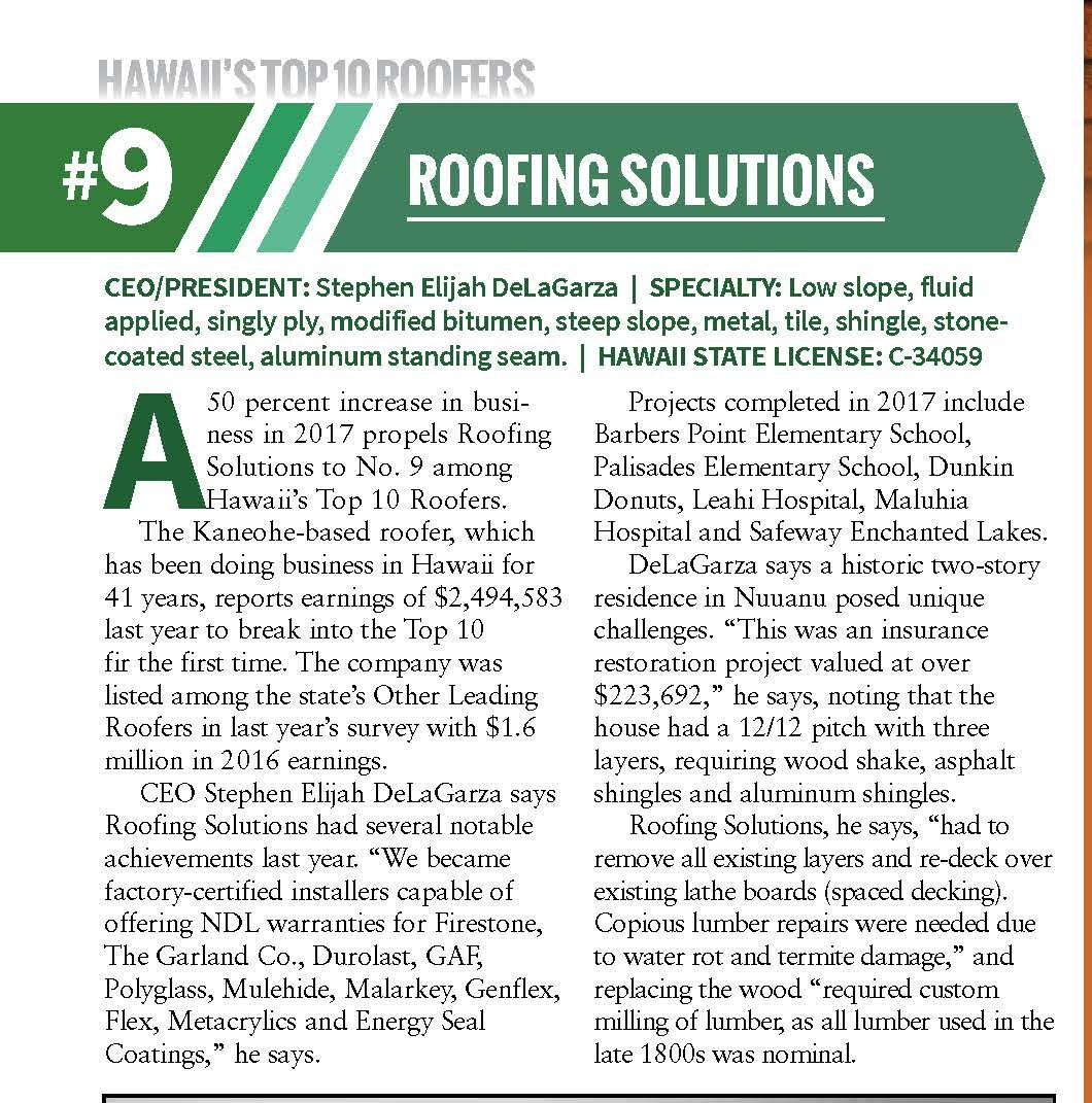 Roofing Solutions | Oahu logo