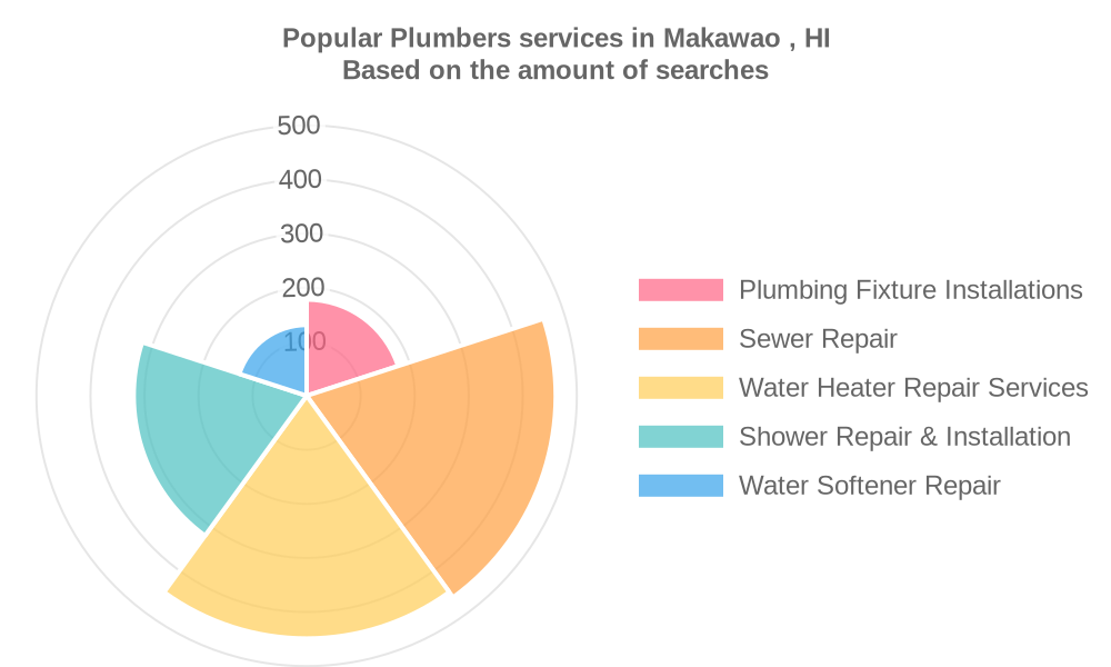 Popular services provided by plumbers in Makawao , HI