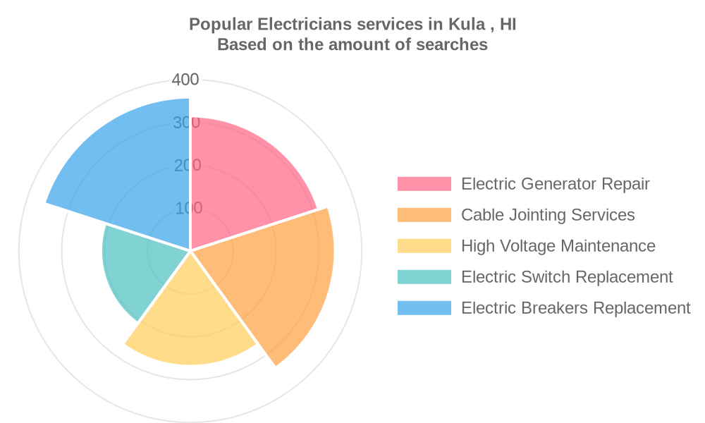 Popular services provided by electricians in Kula , HI